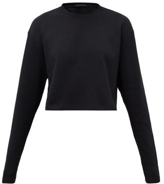 Wardrobe.Nyc Wardrobe.nyc - Release 03 Cropped Long-sleeved Cotton T-shirt - Womens - Black