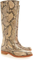 Penelope Chilvers Whitstable Snake Print Long Boot