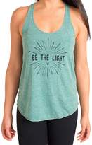 "Inner Fire ""Be the Light"" Yoga Racerback Tank Top, Green"