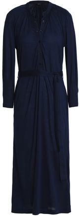 Joseph Belted Stretch-Jersey Midi Dress