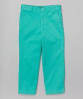 E-Land Kids Pistachio Twill Chino Pants - Toddler & Boys