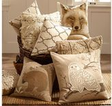 Pottery Barn Jute Bear Embroidered Pillow Cover