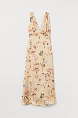H&M V-neck satin dress