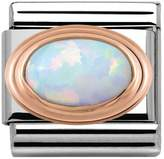 Nomination 9ct Rose Gold White Opal Classic Charm 430501/07