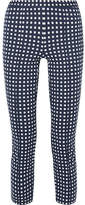 MICHAEL Michael Kors Checked Stretch-knit Skinny Pants - Navy