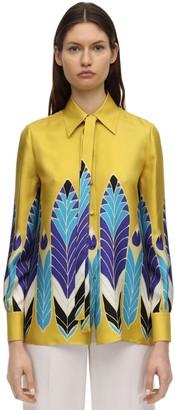 Valentino Printed Silk Twill Shirt