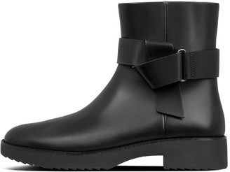 FitFlop Knot Leather Ankle Boots
