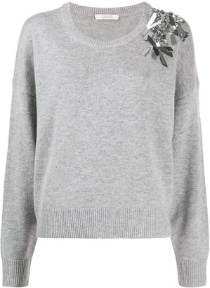 Dorothee Schumacher Embellished Long-Sleeve Jumper