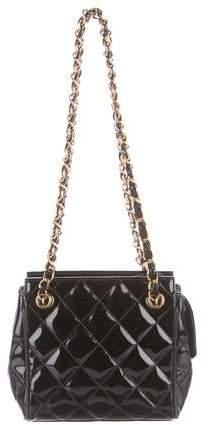 Chanel Patent Vintage Quilted Mini Shoulder Bag