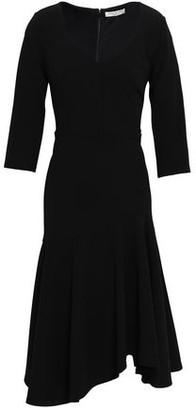 Halston Asymmetric Stretch-crepe Dress