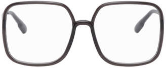 Christian Dior Grey Oversized SOSTELLAIRE01 Glasses