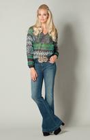 Hale Bob - Leanna Chiffon Top in Green