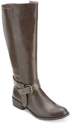 OLIVIA MILLER Whittier Women's Studded Strap Riding Boots