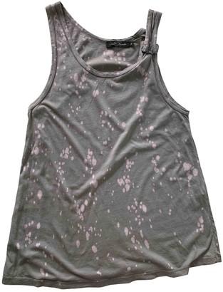 AllSaints Grey Cotton Top for Women