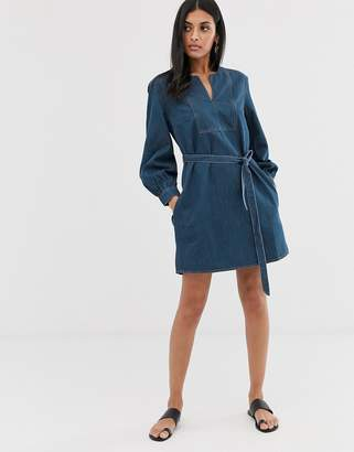French Connection denim mini dress-Blue