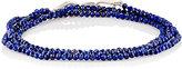 Suzanne Felsen Men's Lapis Lazuli Beaded Triple-Wrap Bracelet-SILVER