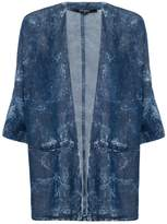Select Fashion Fashion Womens Blue Kimmy Denim Acid Kimono - size S
