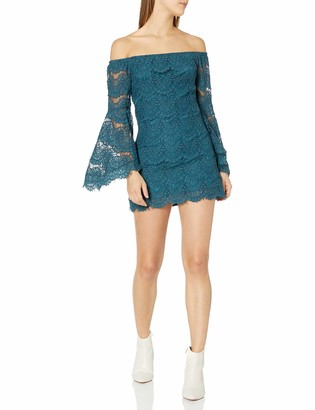 MinkPink Women's Tainted Love Off The Shoulder Lace Dress