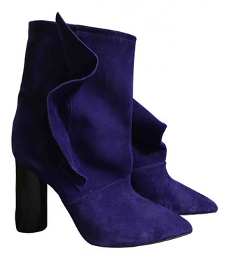 IRO Purple Suede Ankle boots