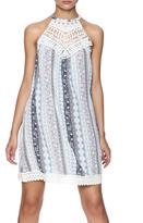 Listicle Blue Lace Trim Dress