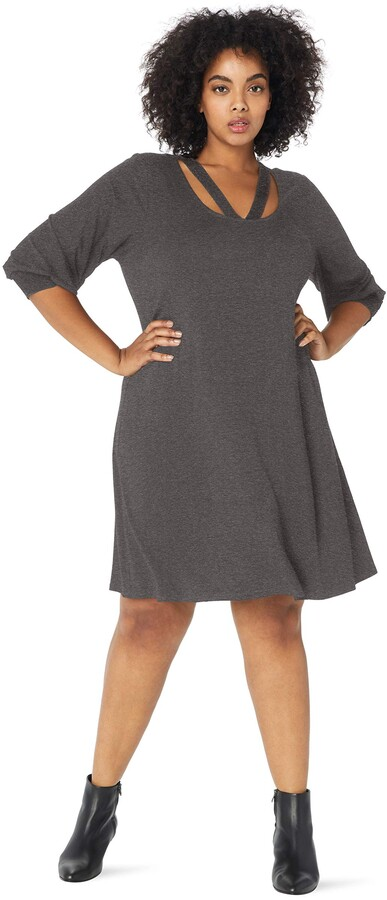 Thumbnail for your product : Karen Kane Women's Plus Size Cross-Front Taylor Dress