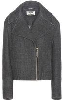 Acne Studios Anson Wool And Linen-blend Biker Jacket