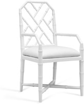 The Well Appointed House Bungalow 5 Jardin Faux Bamboo Lattice Arm Chair in White