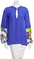 Just Cavalli Long Sleeve Silk Top