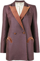 Blazé Milano - double breasted blazer - women - Linen/Flax/Cupro/Viscose - 2