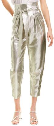 IRO Take Care Linen-Blend Straight Pant