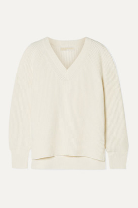 MICHAEL Michael Kors Ribbed-knit Sweater - Cream
