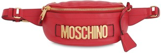 Moschino LOGO GRAINED LEATHER BELT BAG