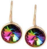 Betsey Johnson Gold-Tone Vitrail Crystal Drop Earrings