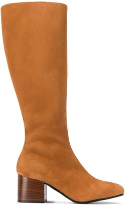 Marni Knee-High Square Toe Boots