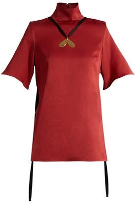 Ellery Blasphemy High-neck Cady Top - Dark Red
