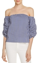 Lucy Paris Savannah Off-the-Shoulder Bubble Top