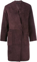 Almarosafur - fitted coat - women - Calf Leather - 42