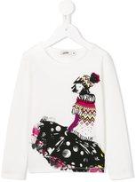 Junior Gaultier girl print T-shirt
