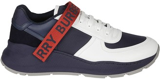 Burberry Ankle Velcro Strap Lace-up Sneakers