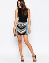 Asos Mini Skirt With Geo-Tribal Embellishment