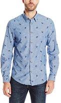 Ben Sherman Men's Records Long Sleeve Button-Down Shirt