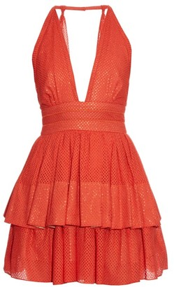 Sophie Theallet Anais Plunging Neckline Dress - Womens - Red