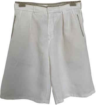 Chloã© ChloA White Cloth Shorts