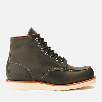 Red Wing Shoes Men's 6 Inch Moc Toe Leather Lace Up Boots - Charcoal Rough and Tough