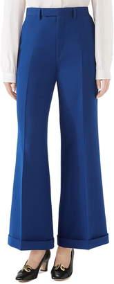 Gucci Wool & Silk Cuffed Ankle Pants