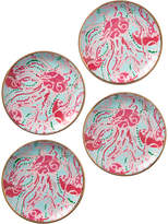 Lilly Pulitzer Set Of 4 Jellies Be Jammin' Ceramic Coasters