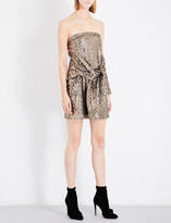 A.F.Vandevorst Strapless sequinned mini dress