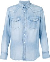 Visvim patch sleeve denim shirt