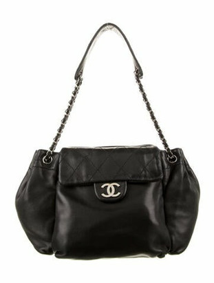 Chanel Quilted Accordion Flap Bag Black