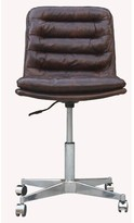 Deshong Genuine Leather Task Chair 17 Stories Upholstery Color: Brown